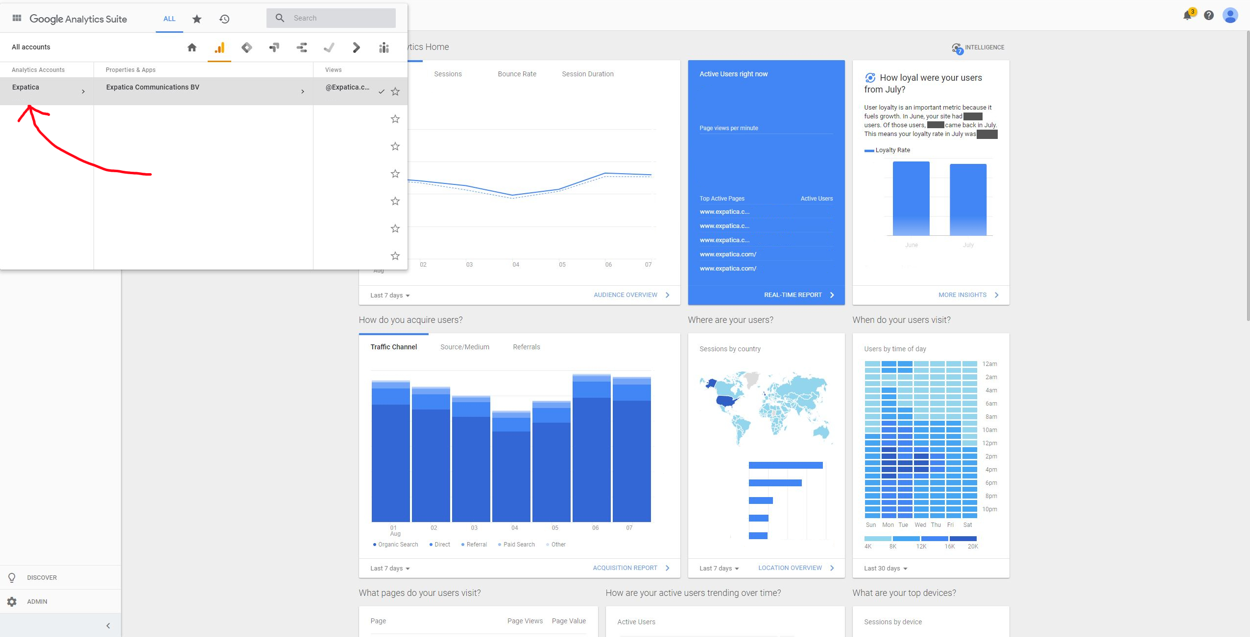 access Google Analytics step 1