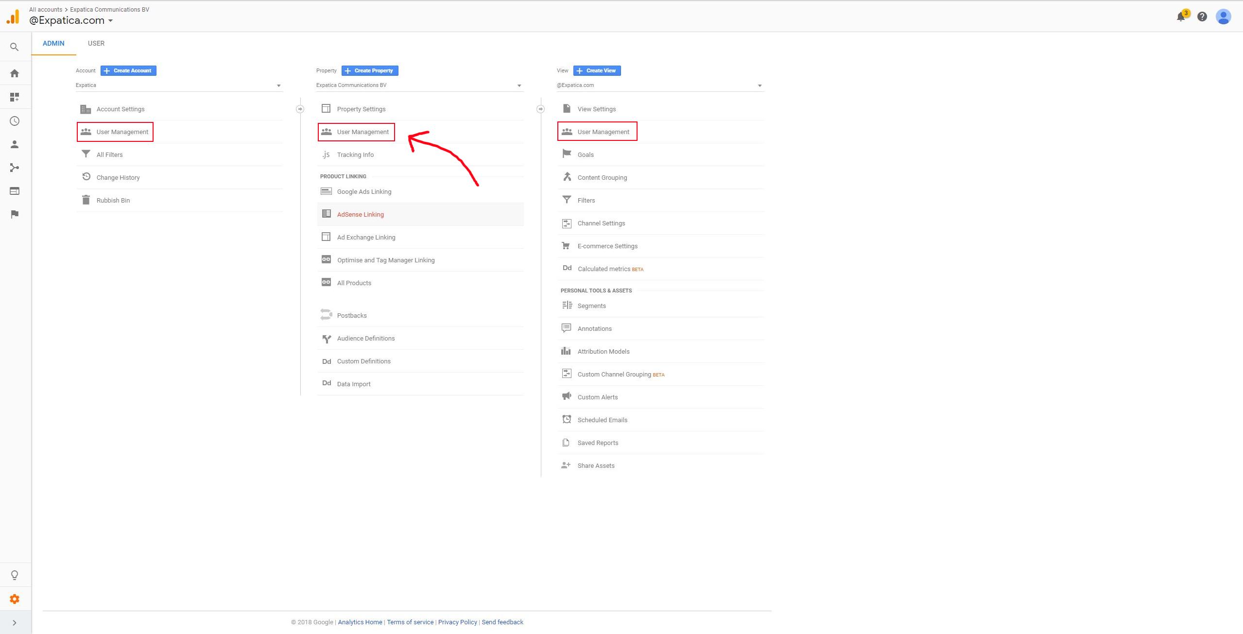 access Google Analytics step 3
