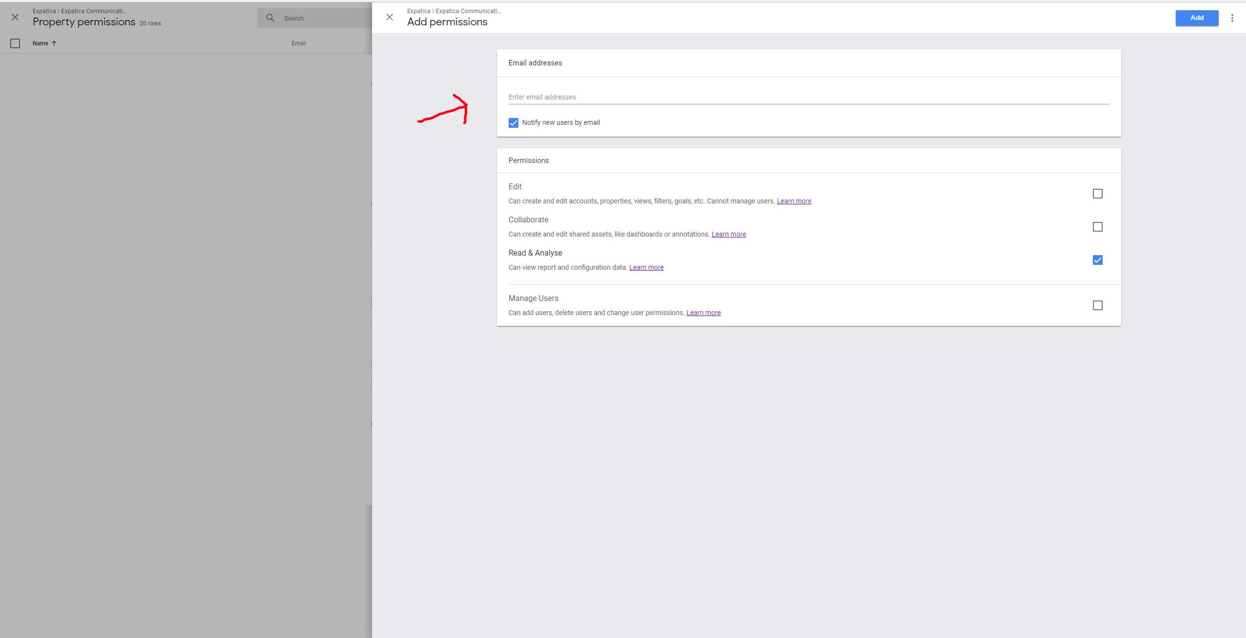 access Google Analytics step 5