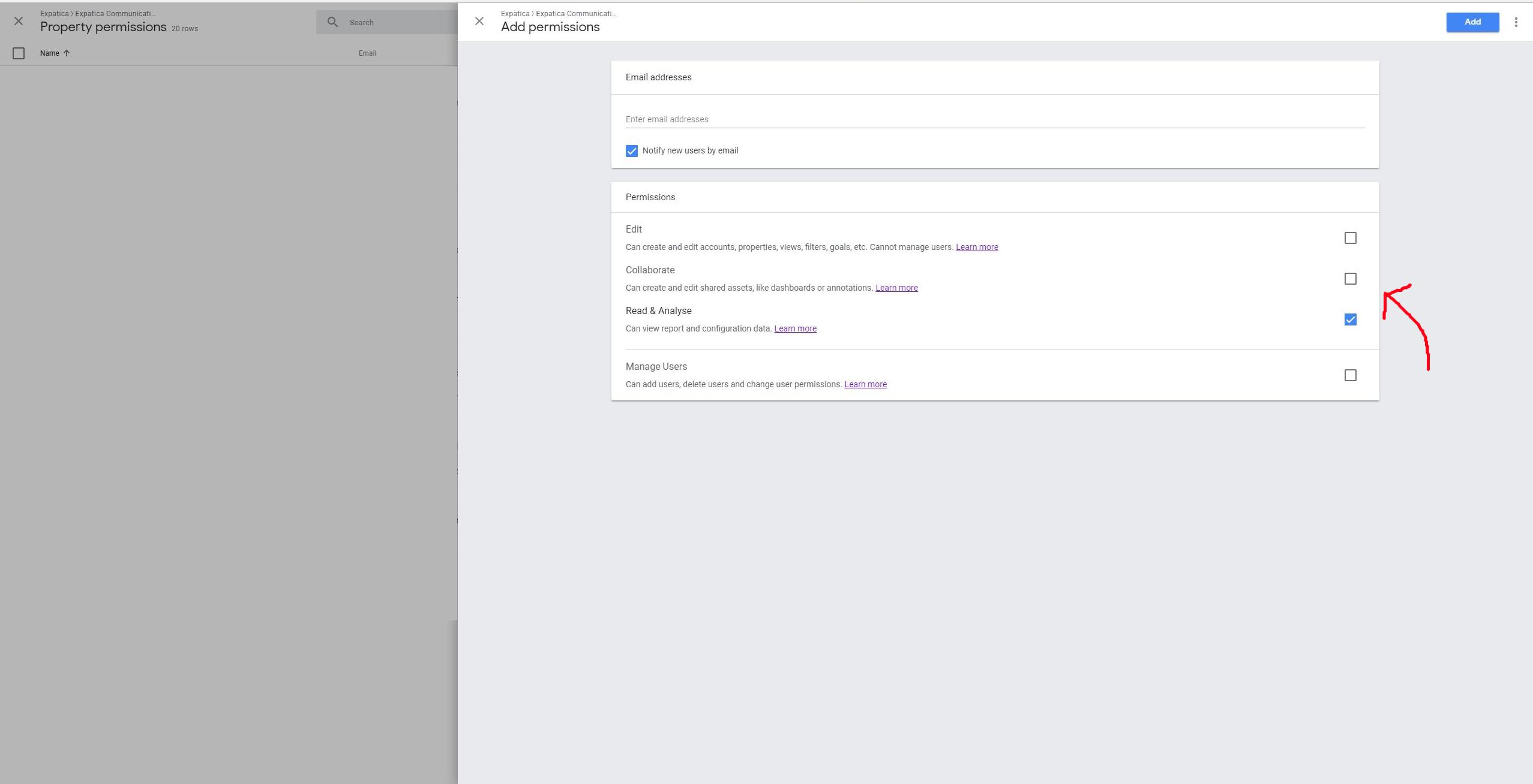 access Google Analytics step 6