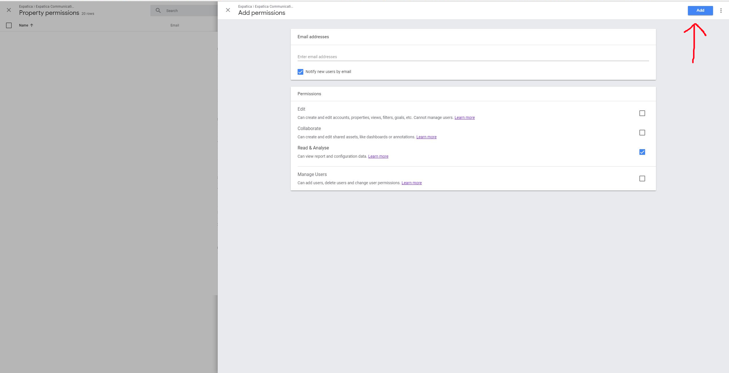 access Google Analytics step 7