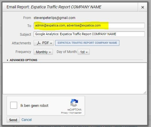 Google Analytics custom reports step 5