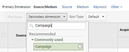 how to create campaign traffic report in GA step 3
