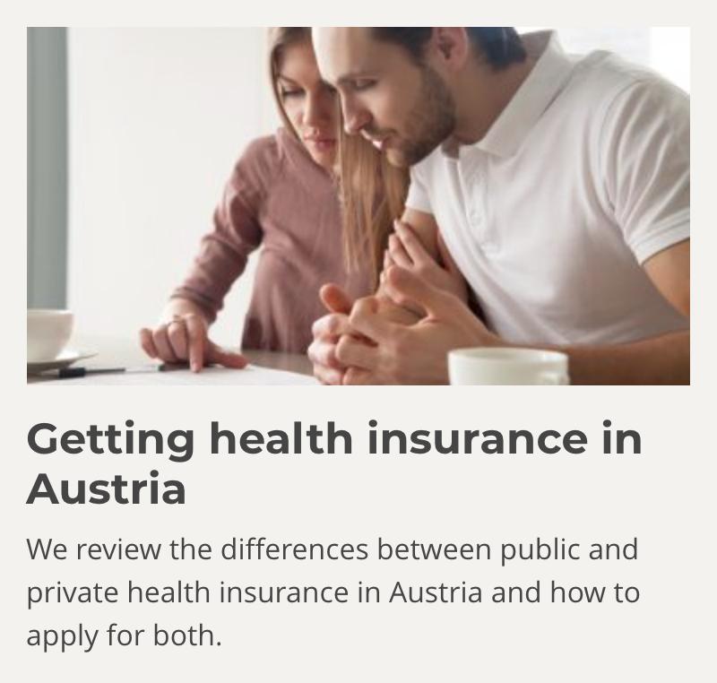 Getting health insurance in Austria