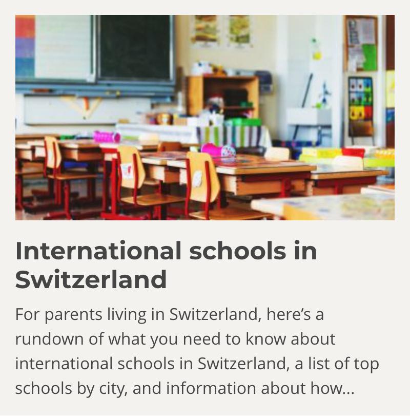 International Schools in Switzerland